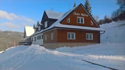 Chata Mečová v zimě
